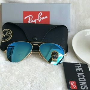ICE BLUE RAY-BAN AVIATOR 100% AUTHENTIC